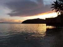 Coucher de soleil à Raja Ampat
