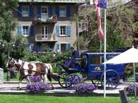 Une calèche dans le village de Zermatt