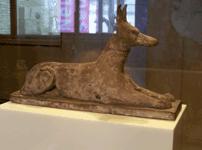 Statue d'Anubis en bois